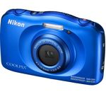 NIKON COOLPIX W100 Tough Compact Camera - Blue