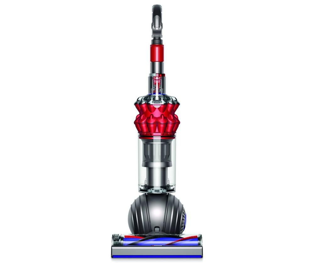 DYSON Small Ball Total Clean Upright Bagless Vacuum Cleaner - Iron & Red + Clean and Tidy Kit