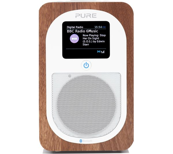 Image of PURE Evoke H3 Portable DAB/FM Bluetooth Clock Radio - Walnut