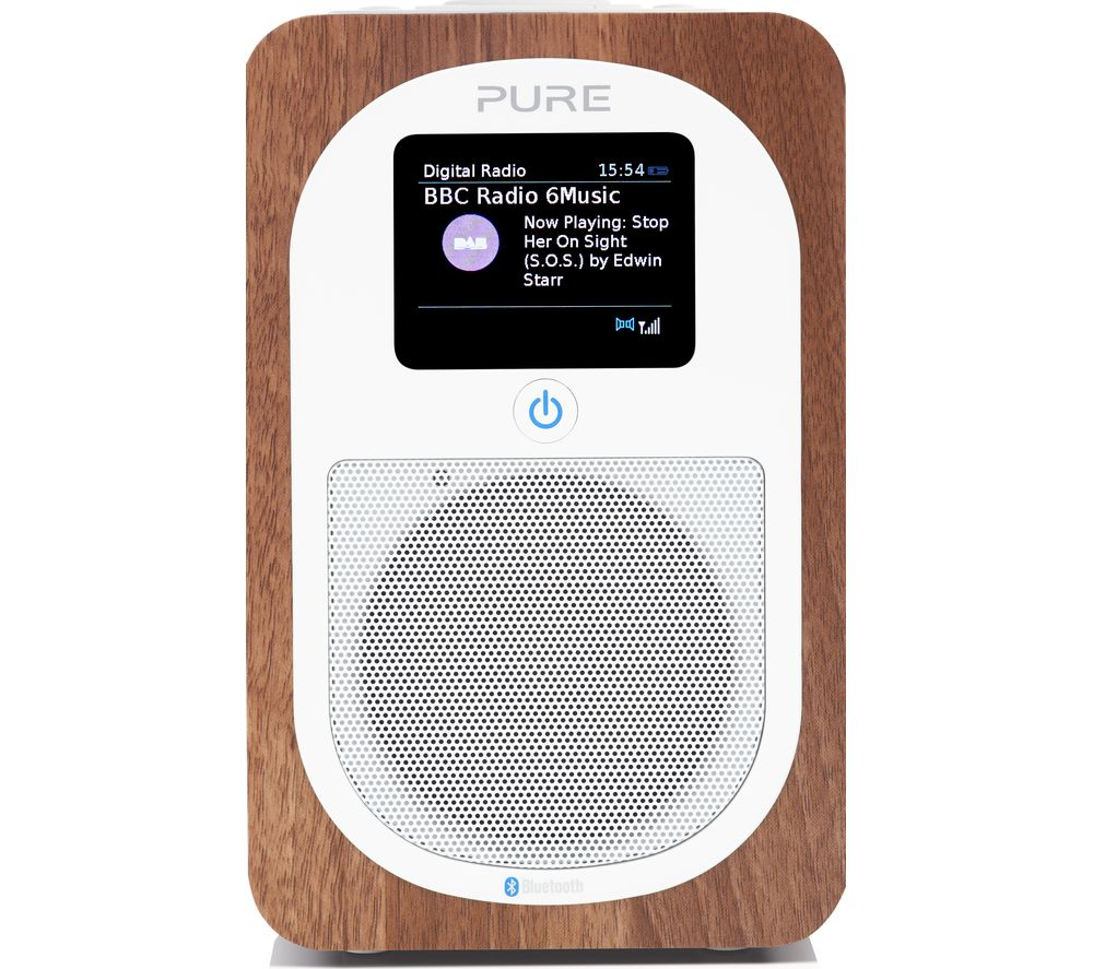 buy pure evoke h3 portable dab fm bluetooth radio walnut. Black Bedroom Furniture Sets. Home Design Ideas