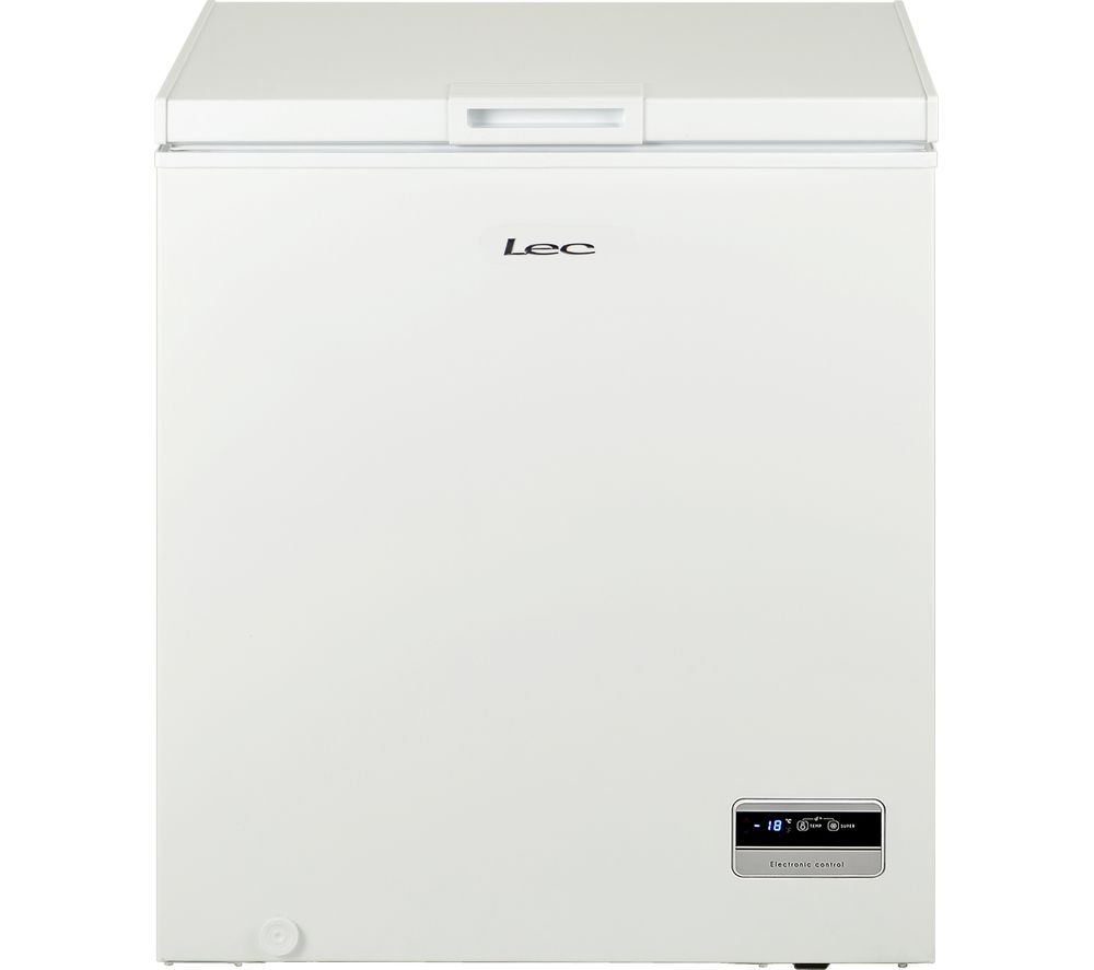 LEC CF150L Chest Freezer - White, White