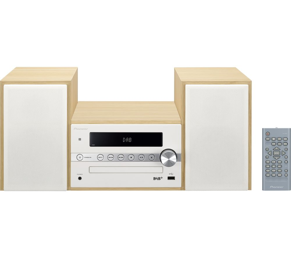 PIONEER X-CM56D-W Wireless Traditional Hi-Fi System - White
