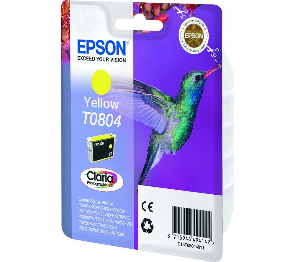 EPSON T0804 Hummingbird Yellow Ink Cartridge