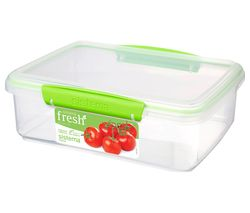 SISTEMA Fresh Rectangular 2 litre Container - Green