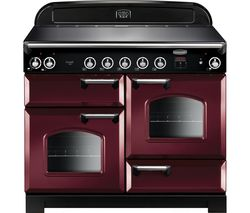 RANGEMASTER Classic 110 cm Electric Induction Range Cooker - Cranberry & Chrome