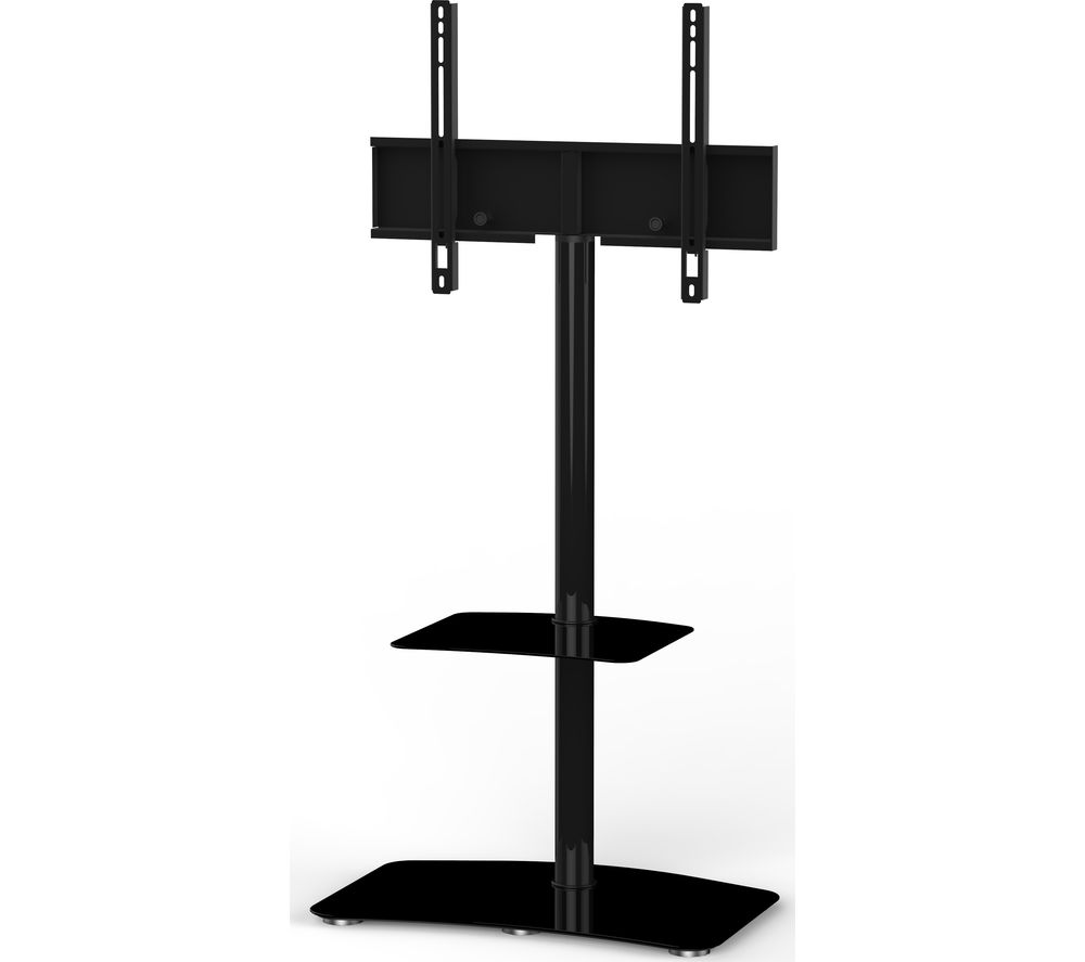 Image of SONOROUS Tall Contemporary PL2810-BLK 650 mm TV Stand with Bracket - Black, Black