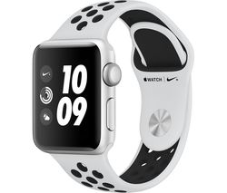 APPLE Watch Nike+ Series 3 - Silver, 38 mm