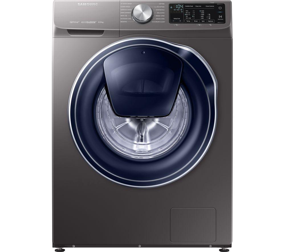 SAMSUNG QuickDrive + AddWash WW80M645OPX Smart 8 kg 1400 Spin Washing Machine - Graphite