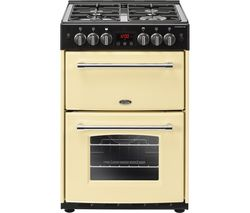 BELLING Farmhouse 60G Gas Cooker - Cream & Black Best Price, Cheapest Prices