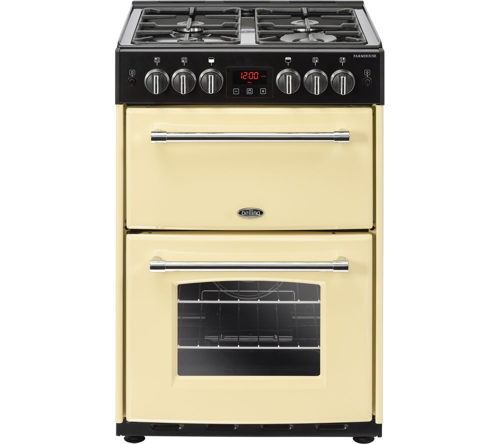 BELLING Farmhouse 60G Gas Cooker - Cream & Black