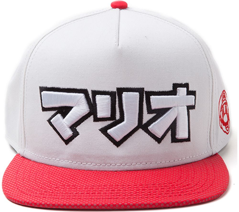 Compare prices for Mario Japanese Super Mario Snapback Cap - White And Red