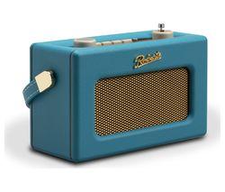 ROBERTS Revival Uno Retro Portable Clock Radio - Blue
