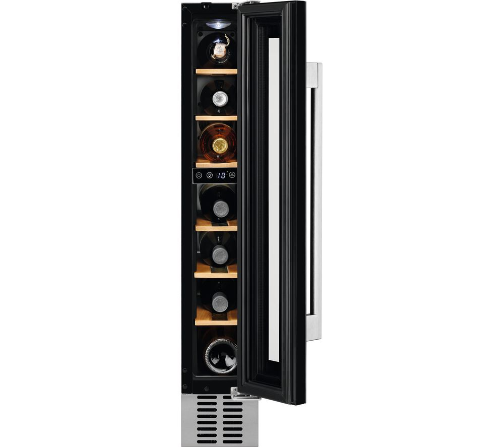 AEG SWE61501DG Integrated Wine Cooler in Black Glass