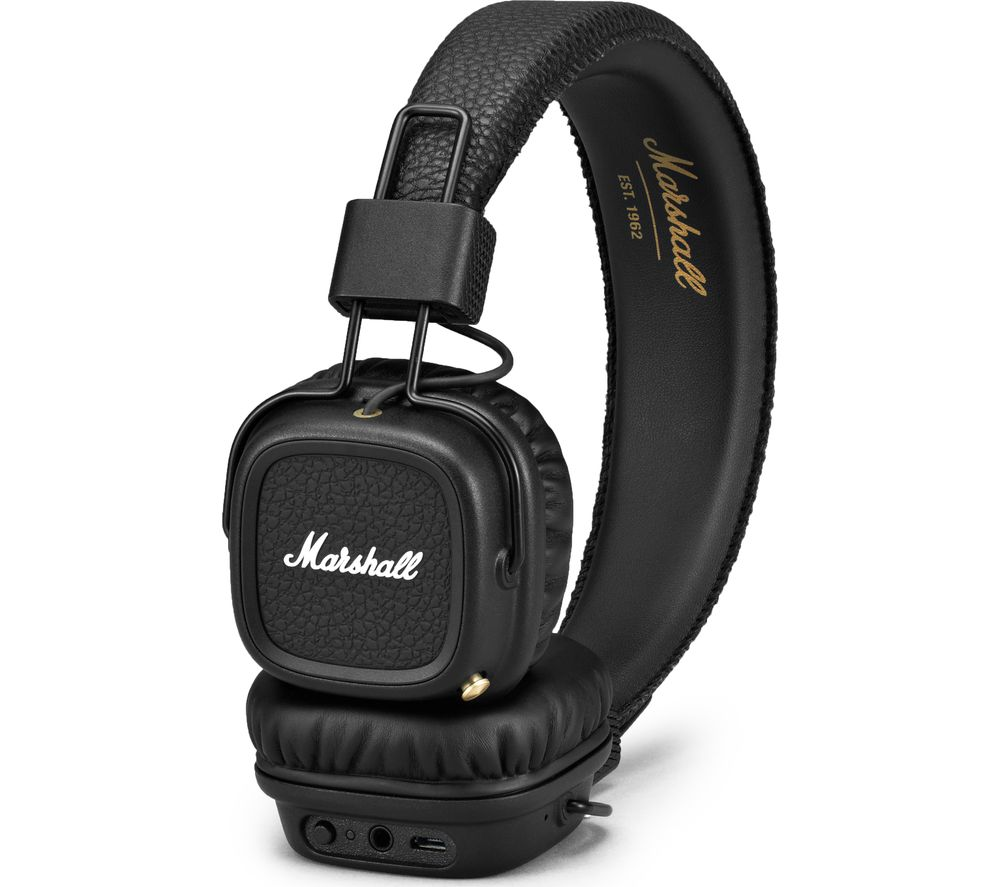 Compare retail prices of Marshall Major II Wireless Bluetooth Headphones - Black to get the best deal online