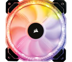CORSAIR HD Series 120 mm Case Fans - Pack of 3, RGB LED
