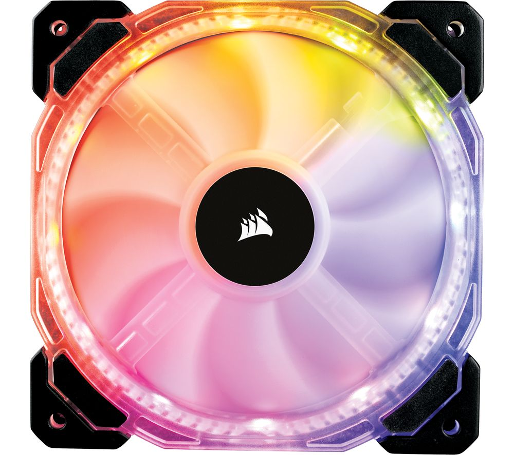 CORSAIR HD Series 120 mm Case Fan - Triple Pack, RGB LED
