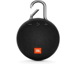 JBL Clip 3 Portable Bluetooth Speaker - Black