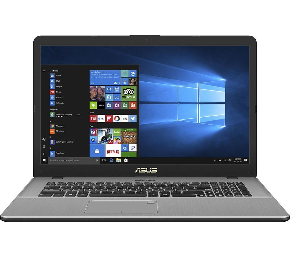 "Image of ASUS Vivobook Pro N750UD 17.3"" Intel® Core™ i5 Laptop - 1 TB HDD & 128 GB SSD, Grey, Grey"