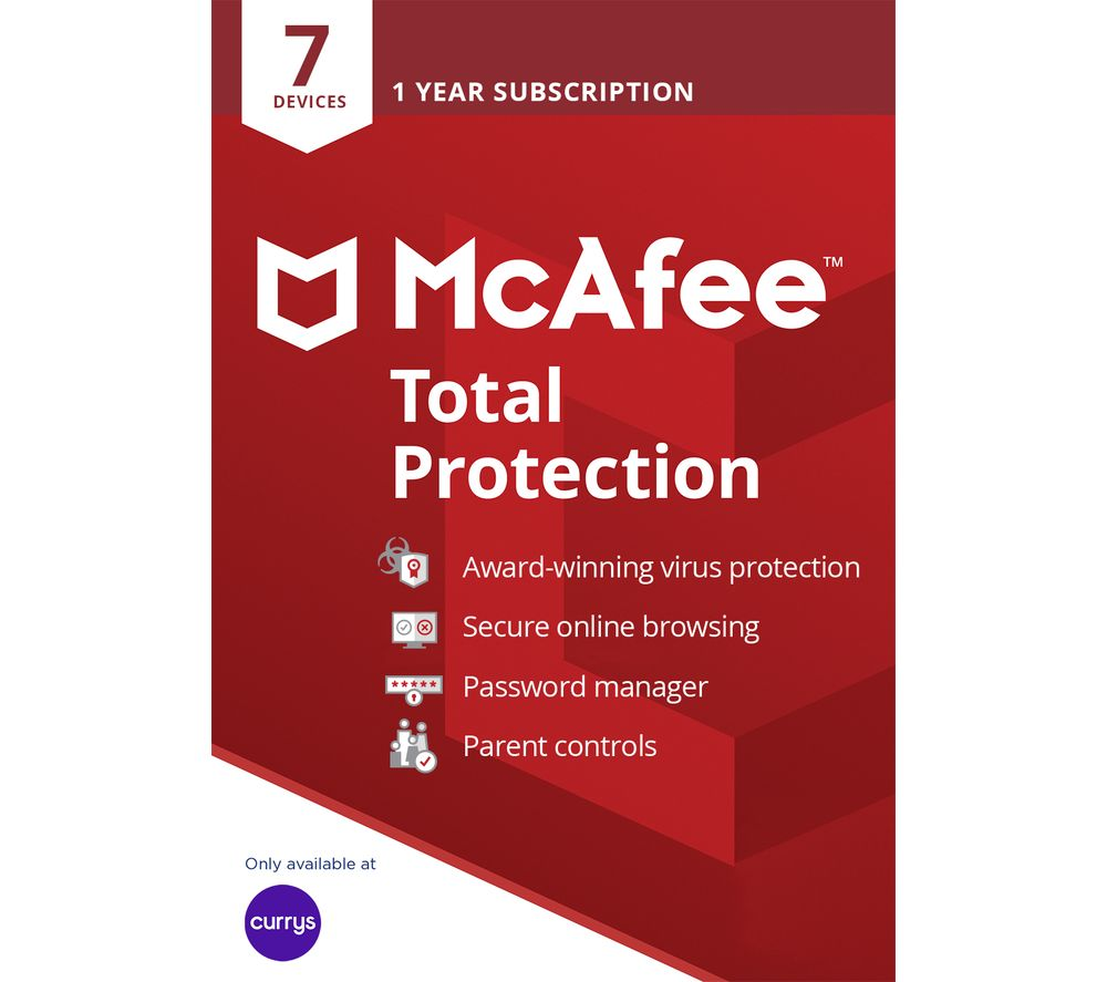 MCAFEE Total Protection 2019 - 1 year for 7 devices
