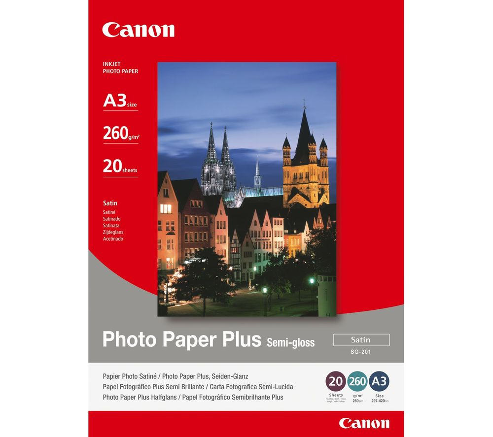 CANON SG-201 A3 Semi-Gloss Photo Paper - 20 Sheets