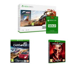 MICROSOFT Xbox One S, Forza Horizon 4, Apex Legends, Project Cars 2, Tekken 7 & 3 Months LIVE Gold Bundle