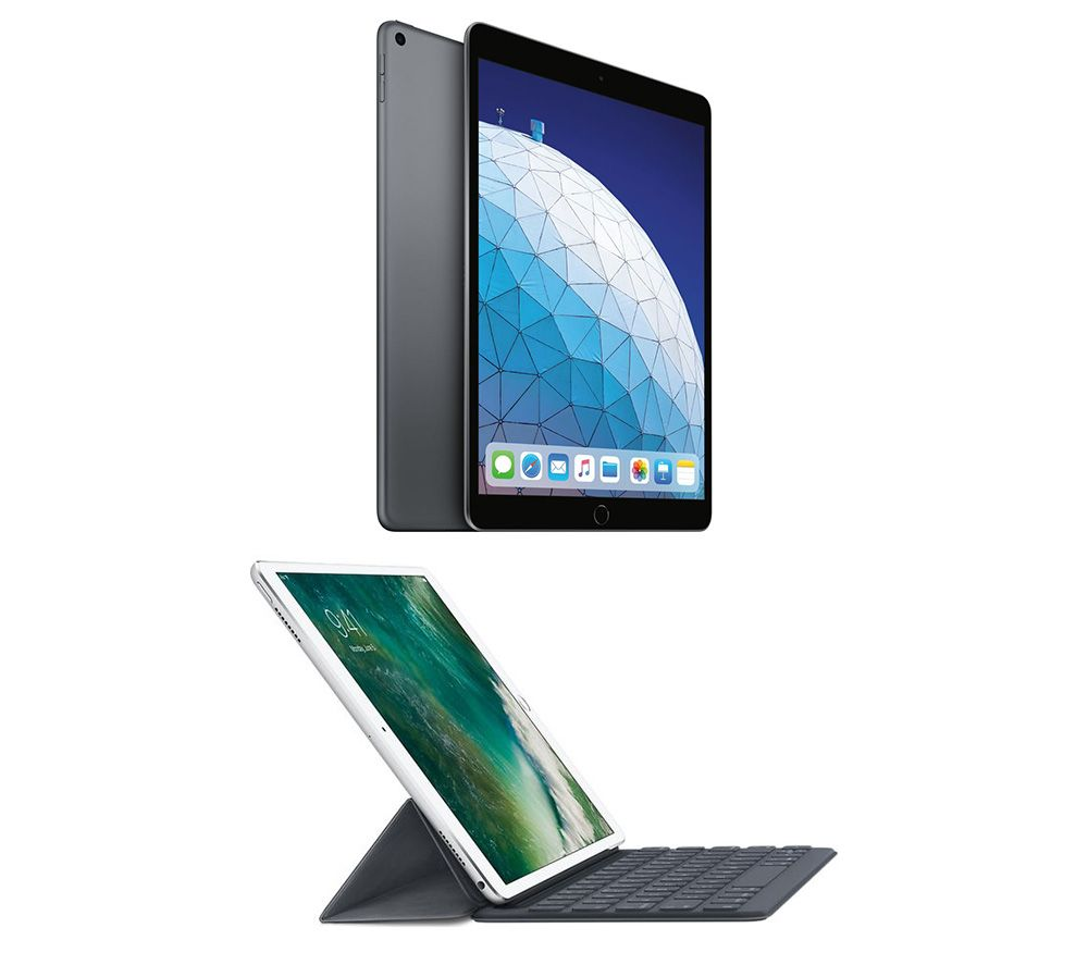 "Image of 10.5"" iPad Air (2019) & Smart Keyboard Folio Case Bundle - 256 GB, Space Grey, Grey"
