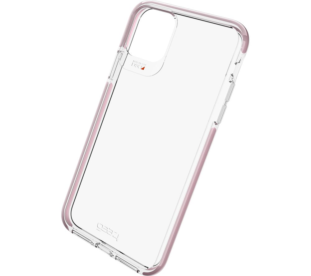 GEAR4 Piccadilly iPhone 11 Pro Case - Clear & Rose Gold