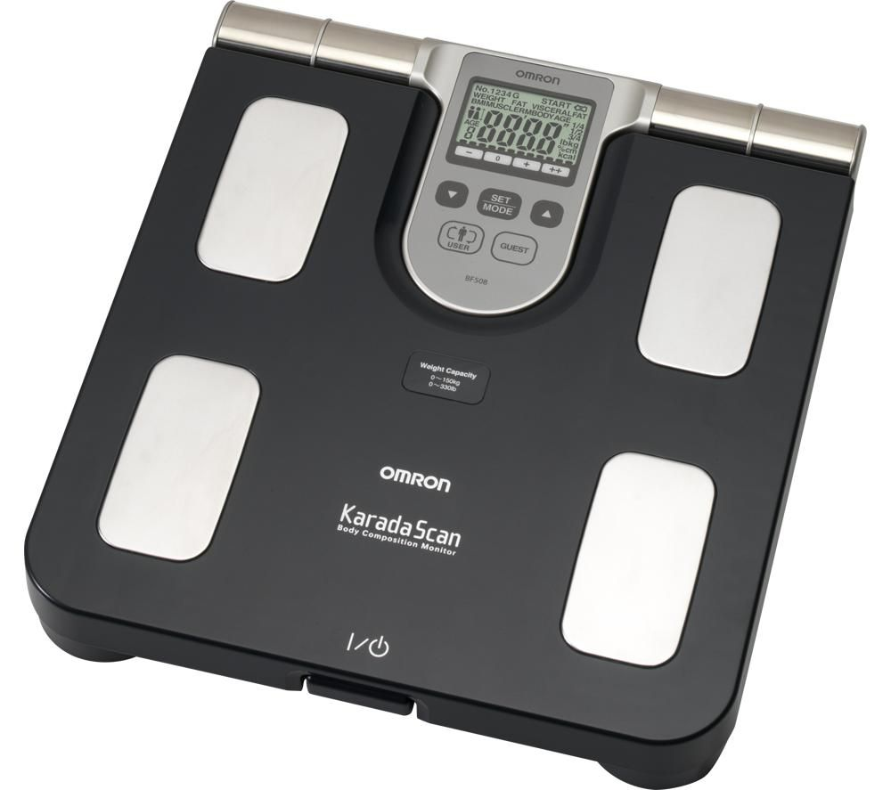 OMRON Karada Scan BF508 Electronic Bathroom Scales - Grey, Grey