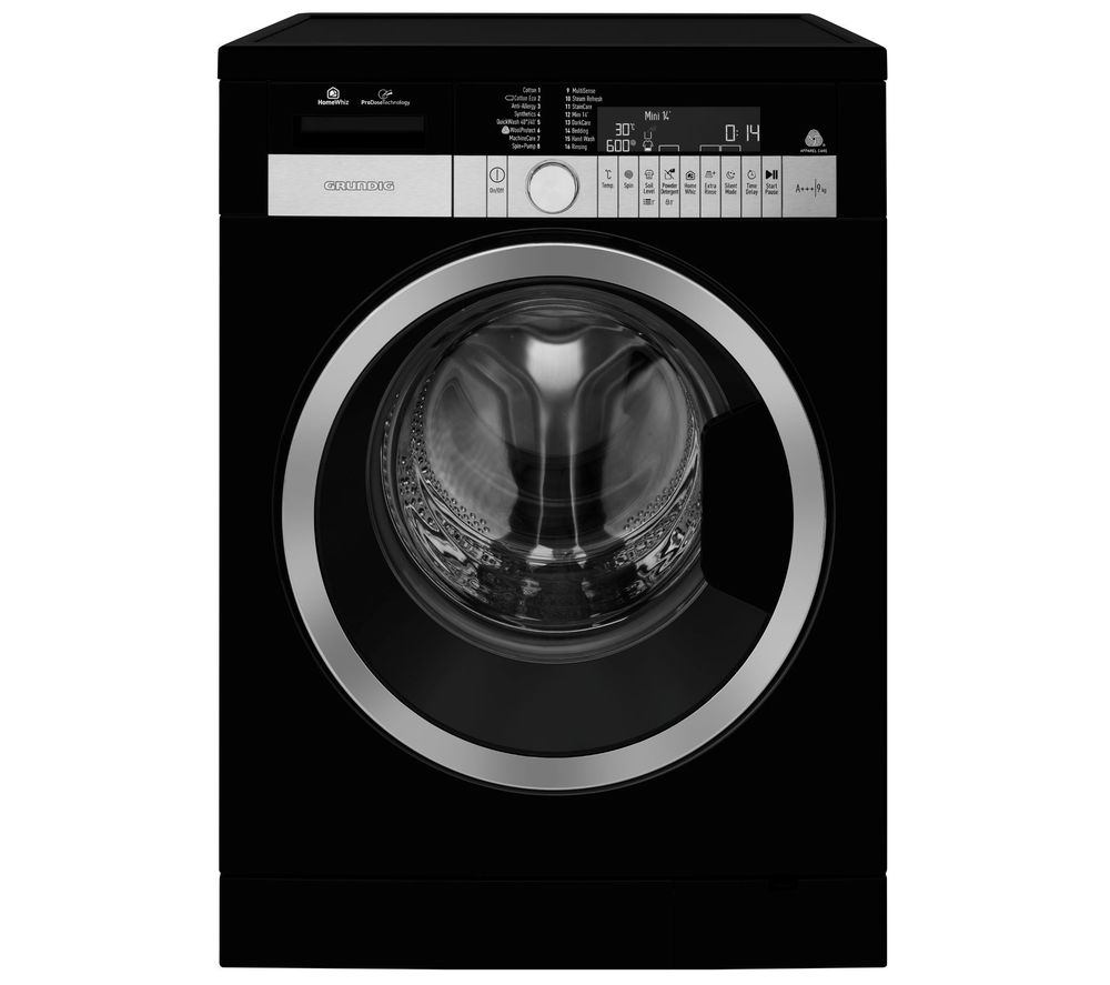 GRUNDIG GWN59650CHB WiFi-enabled 9 kg 1600 Spin Washing Machine - Black, Black