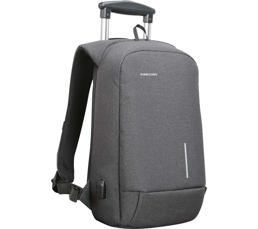"Image of KINGSONS KS3149W-DG 15.6"" Laptop Backpack - Dark Grey, Grey"