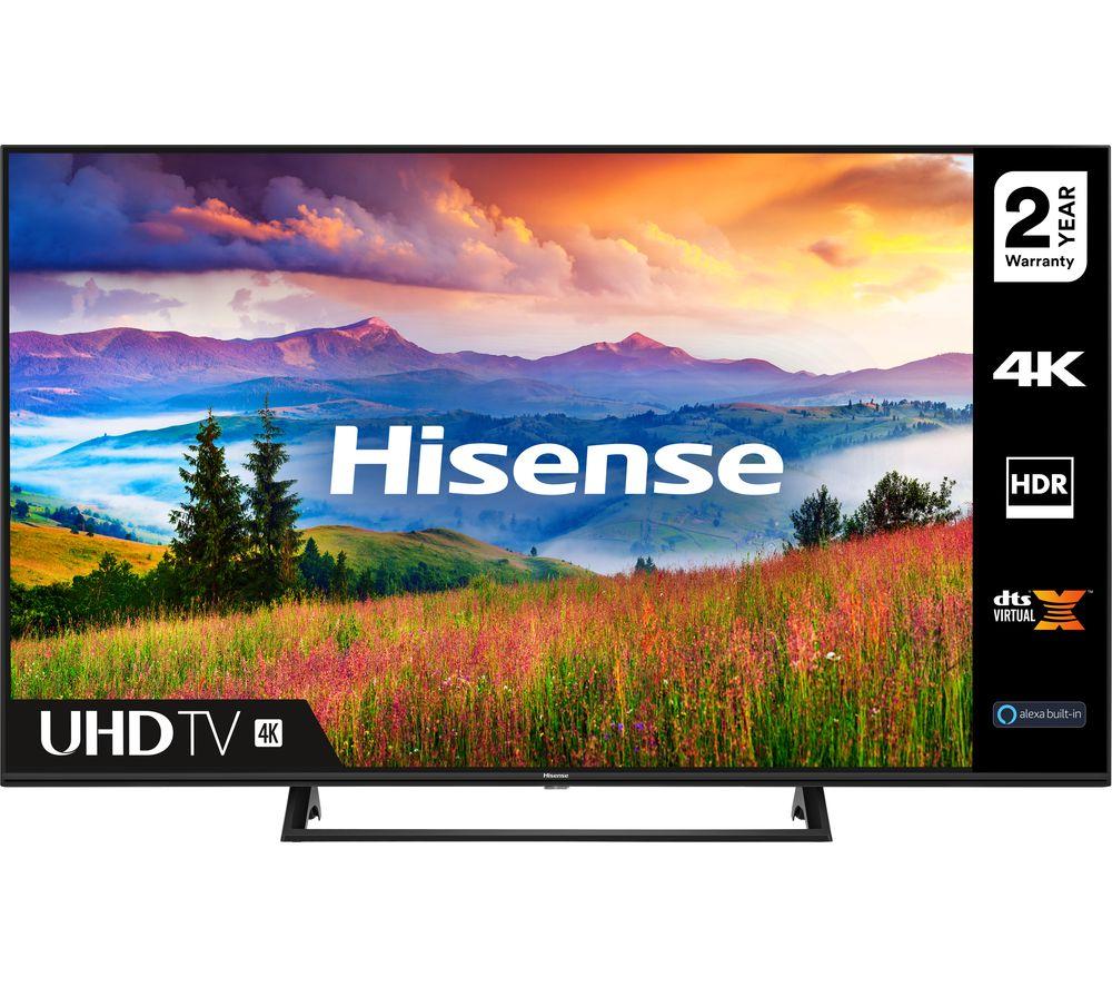 55 HISENSE 55A7300FTUK  Smart 4K Ultra HD HDR LED TV with Amazon Alexa