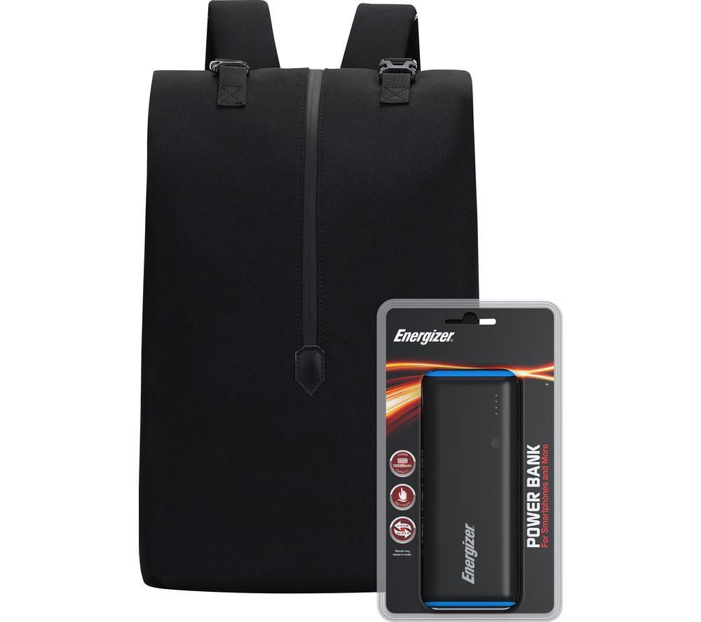 Image of ENERGIZER EPB004 Backpack with Power Bank - Black, Black