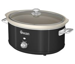 SWAN Retro SF17031BN Slow Cooker - Black Best Price, Cheapest Prices