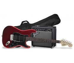 Squier Affinity Stratocaster Electric Guitar Bundle - Red