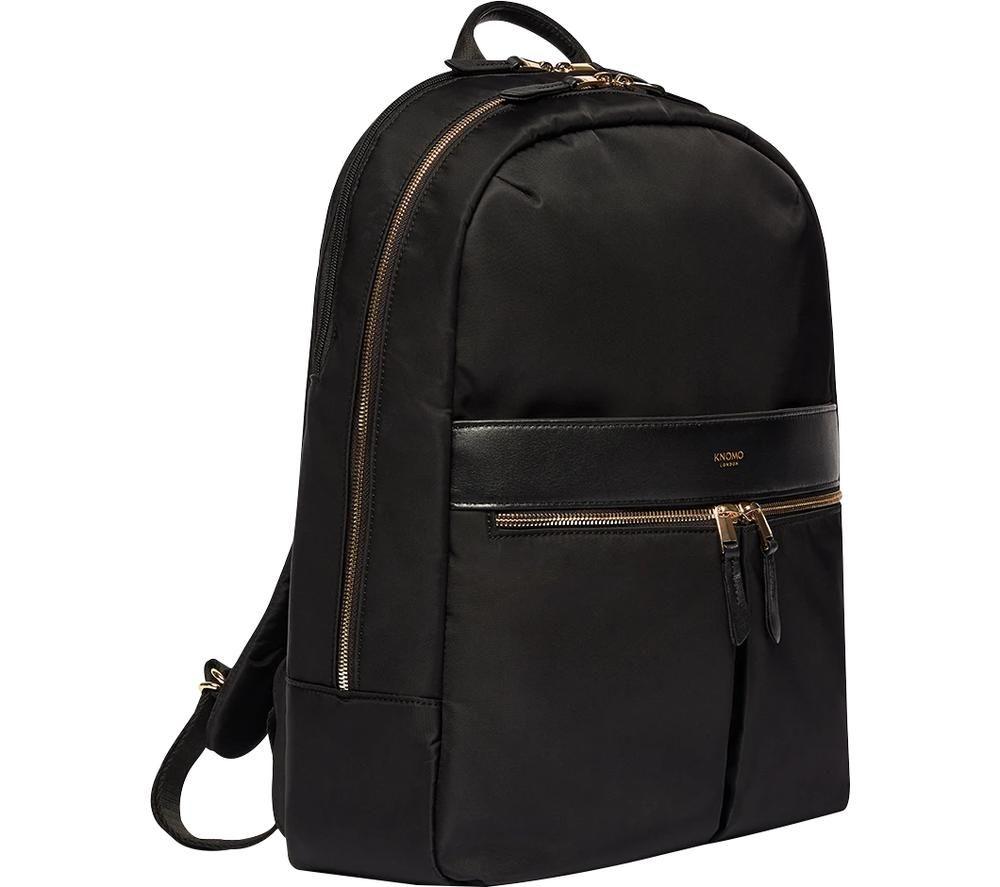 """Image of KNOMO Beaufort 15.6"""" Laptop Backpack - Black, Black"""