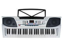 AXP15 Portable Electronic Keyboard - Silver & Black
