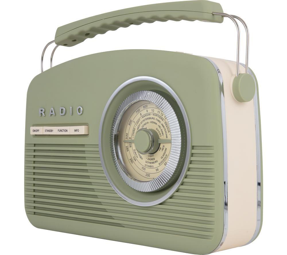 AKAI Vintage A60010VDABSG Portable DAB+/FM Radio - Green