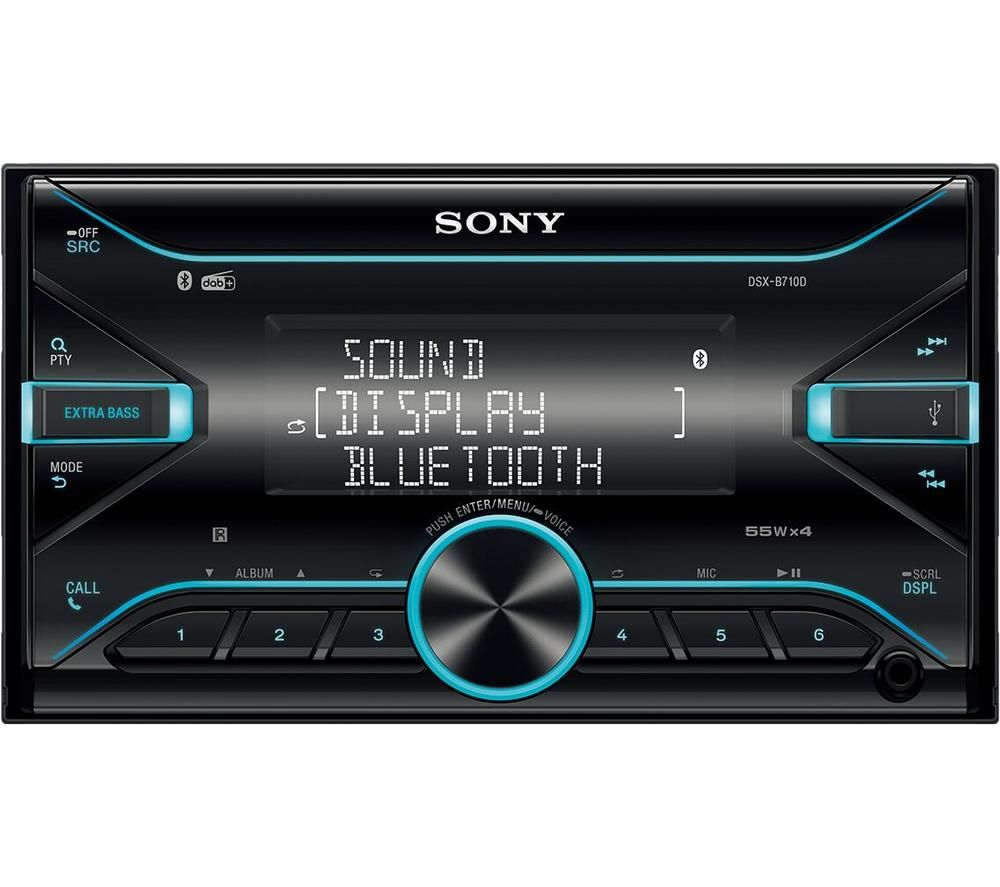 SONY DSX-B710D Smart Bluetooth Car Radio - Black, Black