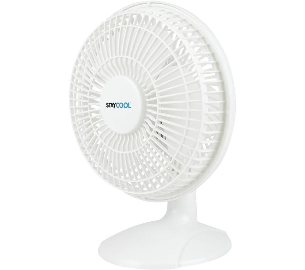 """STAYCOOL F1005WH 6"""" Desk Fan - White"""