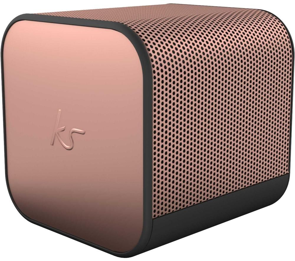 Kitsound BoomCube Portable Bluetooth Speaker - Rose Gold, Gold