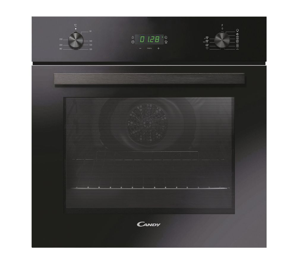 CANDY FCT615N WIFI Electric Steam Smart Oven - Black, Black