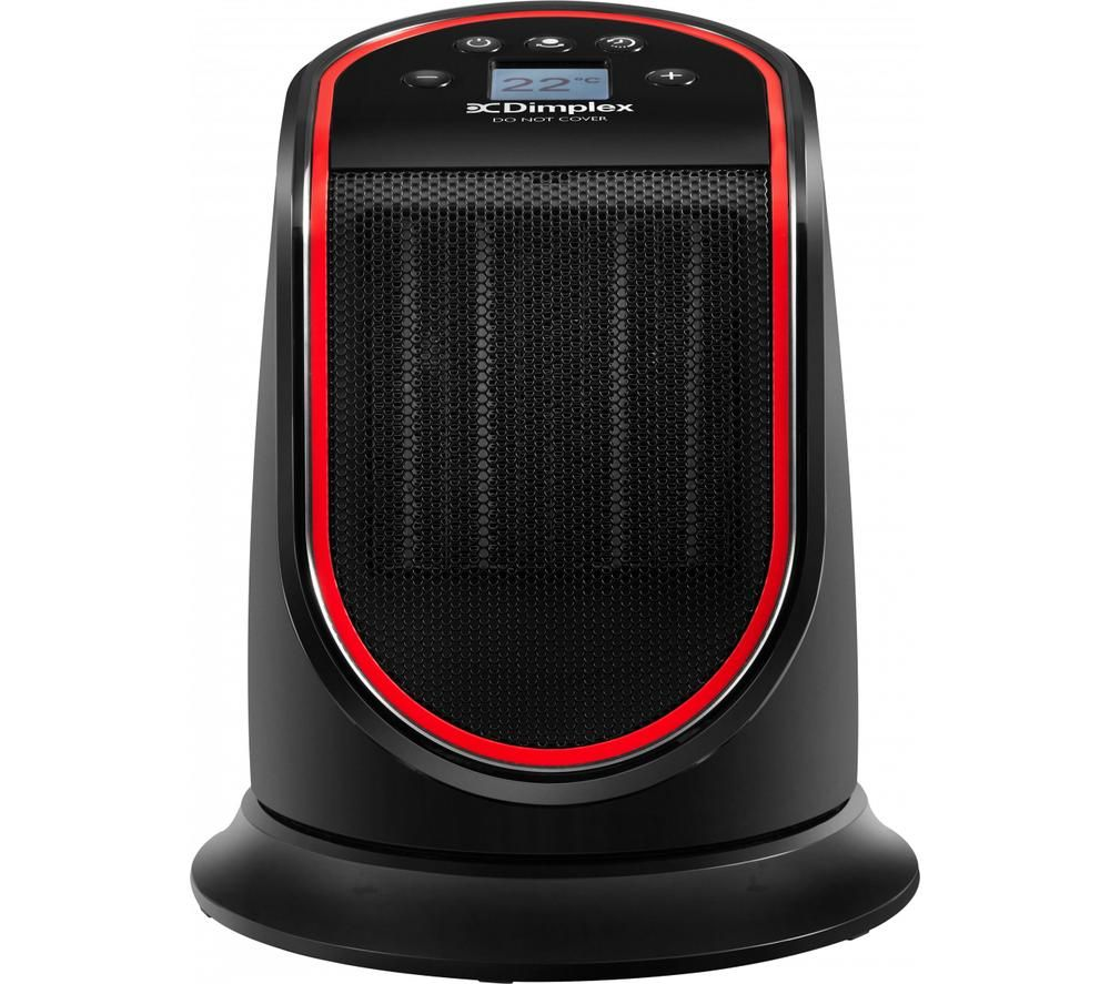 DIMPLEX M2GTS Portable Hot & Cool Ceramic Fan Heater - Black & Red