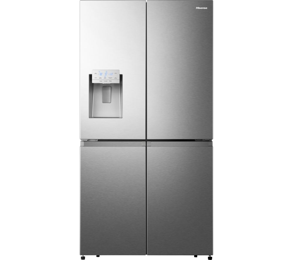 HISENSE RQ760N4AIF American-Style Fridge Freezer - Stainless Steel, Stainless Steel