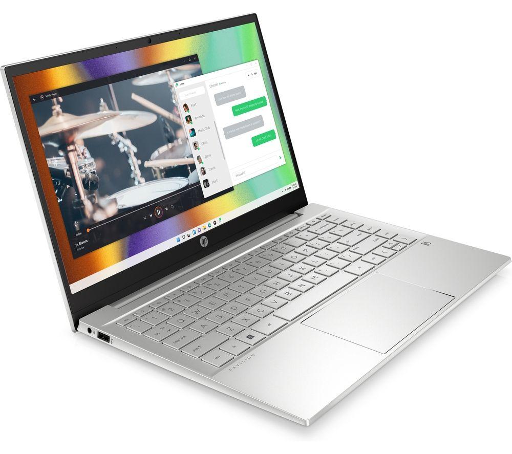 "HP Pavilion 14-dv0607na 14"" Laptop - Intel® Pentium® Gold, 128 GB SSD, White & Rose Gold"
