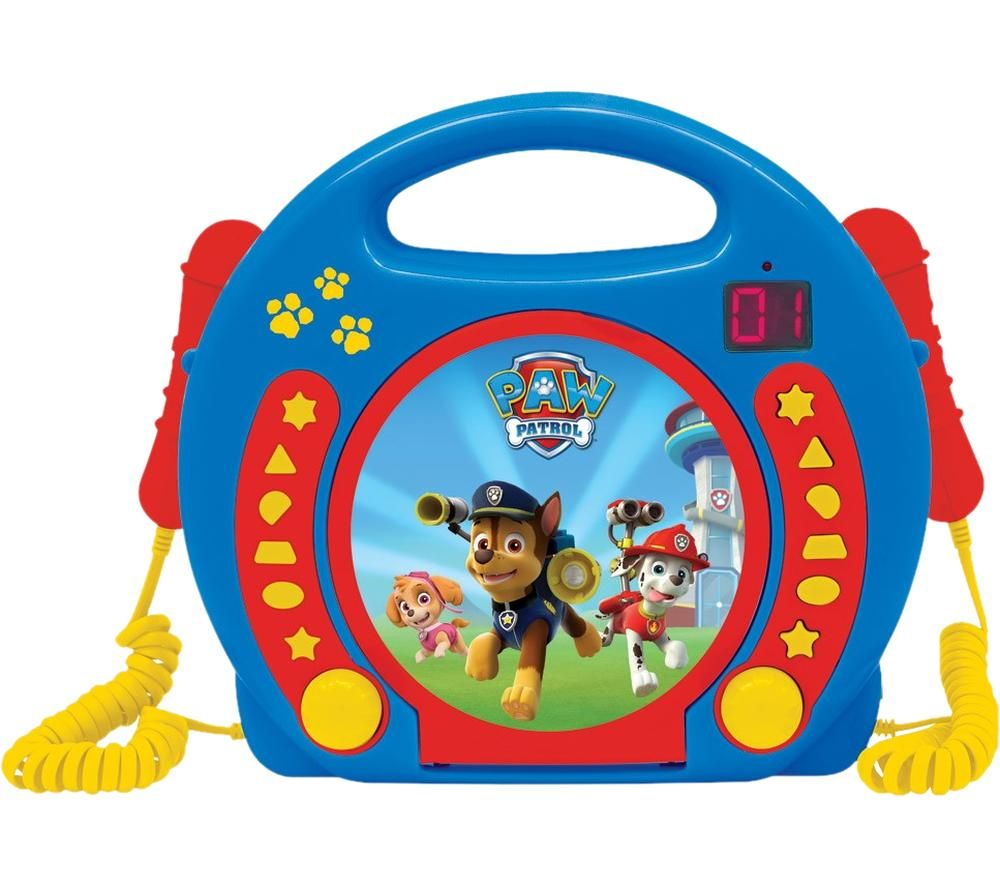 LEXIBOOK Paw Patrol CD Player with Microphones
