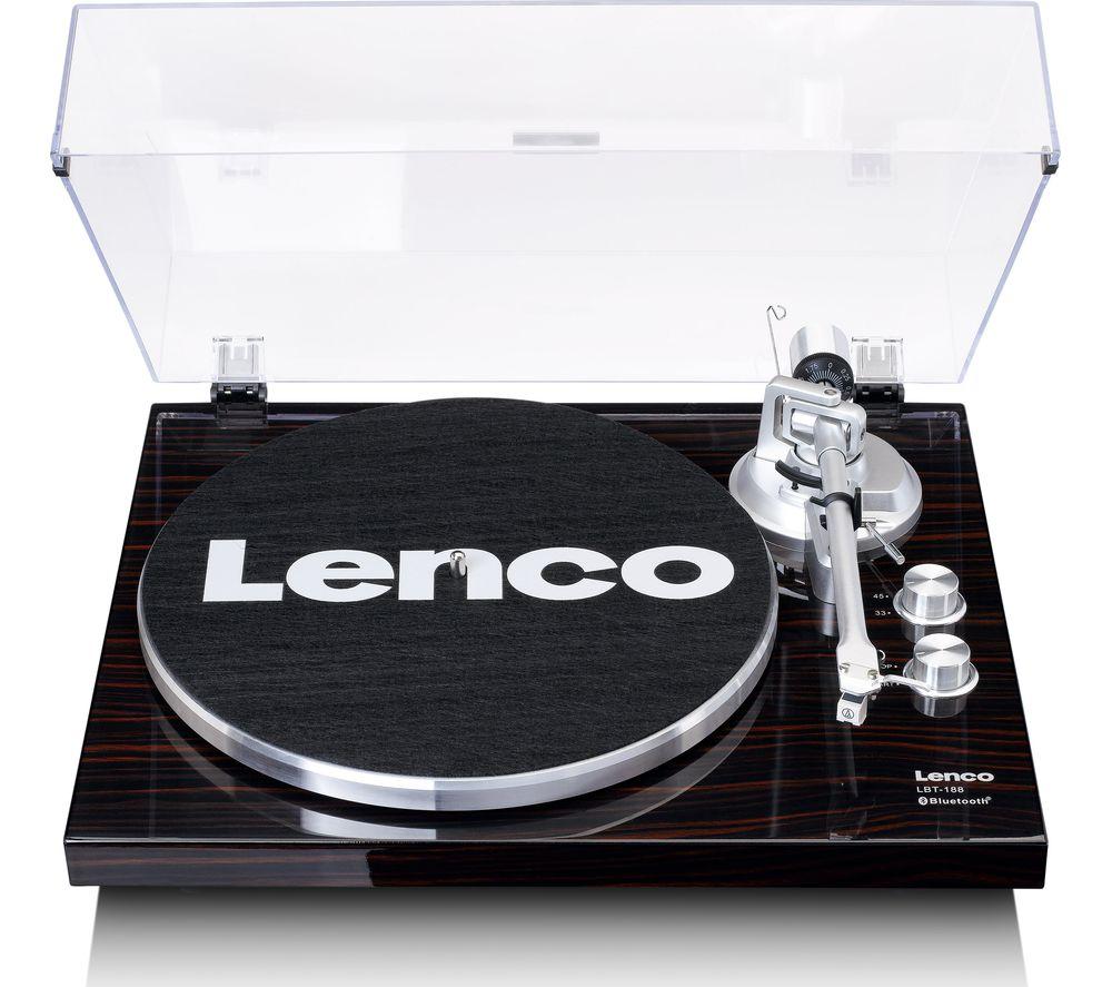 LENCO LBT-188 Belt Drive Bluetooth Turntable - Walnut
