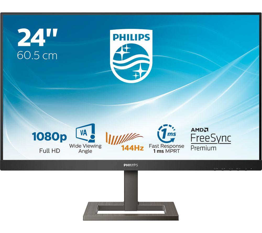 "Image of PHILIPS 242E1GAEZ Full HD 23.8"" LCD Monitor - Black, Black"