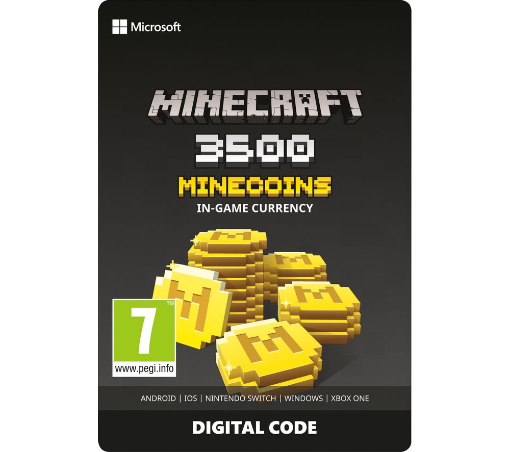 MICROSOFT Minecraft Minecoins Pack - 3500 Coins
