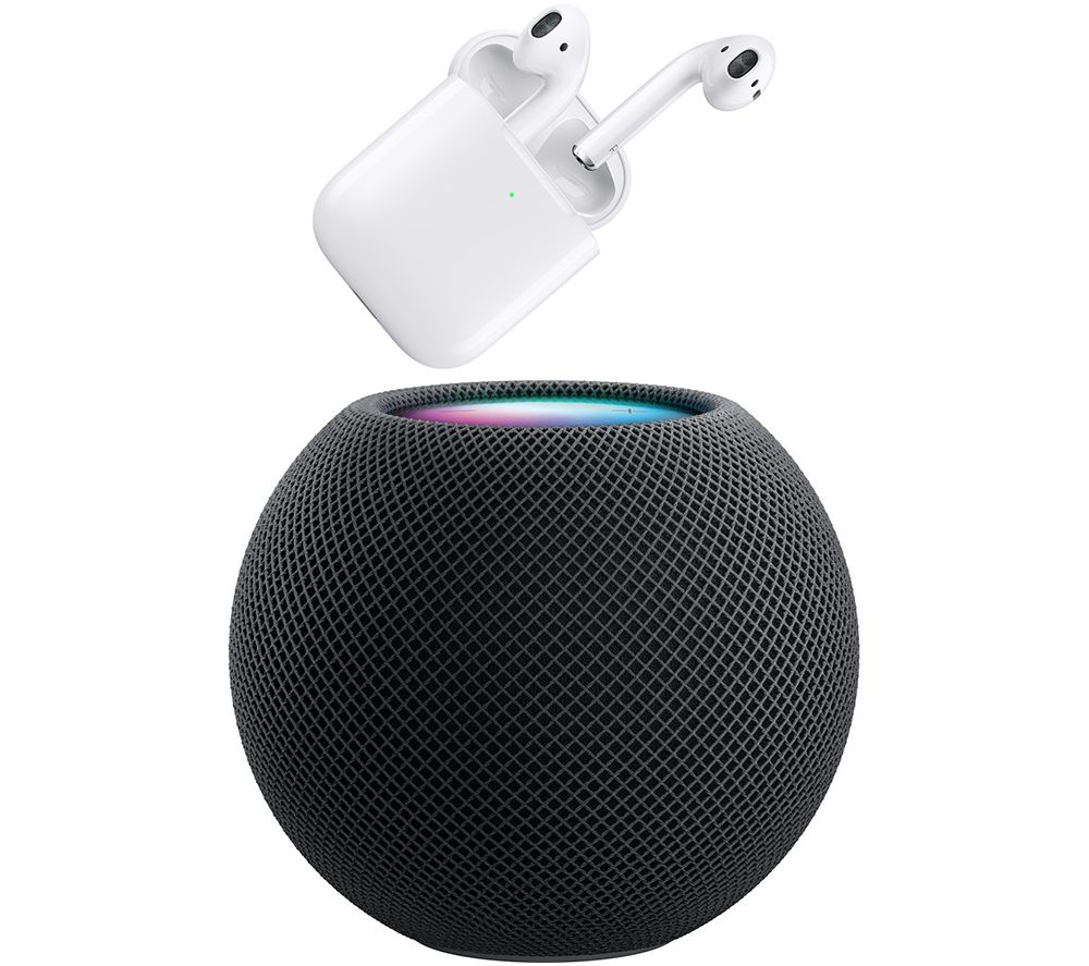 Image of APPLE AirPods (2nd generation) & HomePod Mini Bundle - Space Grey, Grey