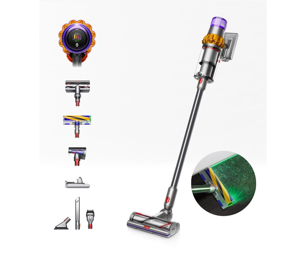 DYSON V15 Detect Absolute Cordless Vacuum Cleaner - Yellow & Nickel